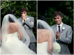 10 Grooms' Faces When They First See Their Bride. I want someone to take a picture of my soon to be husband when I walk down the aisle!