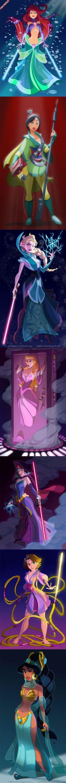 Princesses Disney version Star Wars