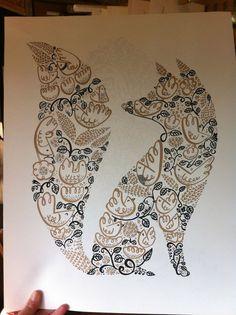 Идеи для татуировки: лисичка. Эскизы, арты, работы #2 tattoo, тату, эскиз, арт, длиннопост, лиса, дизайн татуировки
