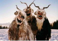 Krampus's counterpart, Perchta, actually DISEMBOWELS misbehaving kids.