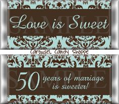 Love is Sweet 50th Wedding Anniversary by carouselcandyshoppe, $37.50