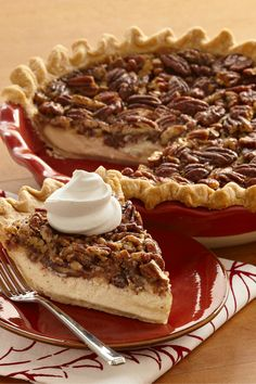 Cheesecake meets pecan pie in this smooth and decadent holiday dessert.