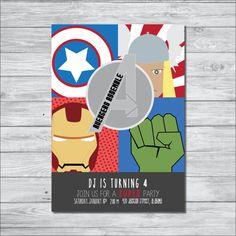 Avengers Birthday Party Invitation, Boy Birthday Party Invite, Digital Invitation