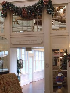 Christmas decorations at Boardwalk lobby