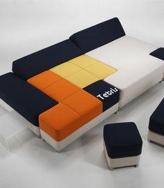 Il divano come tetris
