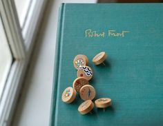 Handpainted push pins by Cathy McMurray