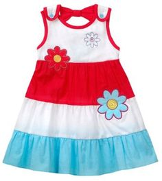 Youngland Baby-girls Infant Colorblock Applique Dress, White/Red/Blue, 18 Months Youngland. $12.00