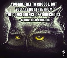 Free choice is not free of consequence