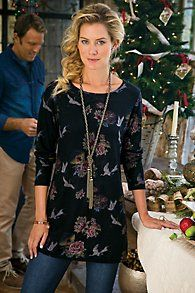 Floral Knit Tunic
