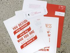 Font Collective Direct Mailer by Megan Lewis, via Behance