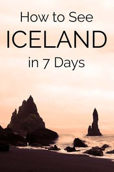 How to see the best of Iceland in 7 days. Winter trip itinerary that works for summer trip too. #budgetbeachtravel