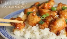 Asian Orange Chicken is my family's favorite meal EVER.  It's one of those dishes everyone loves- so flavorful! @allrecipes