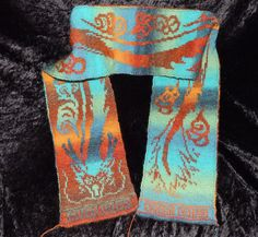 Ravelry: Project Gallery for Cloud Dragon Scarf Mystery KAL pattern by Tania Richter