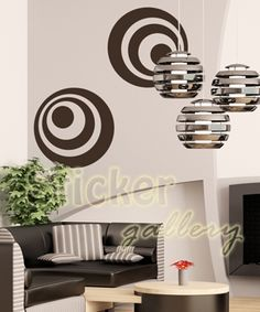 Minimalistic, retro style, wall sticker...  Αυτοκόλλητα τοίχου για διακόσμηση.