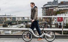 「JIVR Bike」は、折り畳み式の電動アシスト自転車