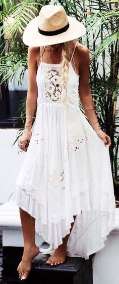 #spellandthegypsycollective #boho #outfits |  White Boho Maxi Dress