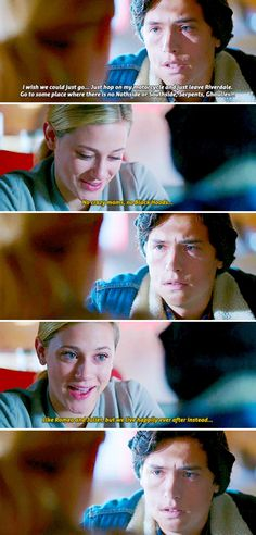 Jughead, this is not what a girl who wants to break up with you says. Please figure it out.<<come on juggg