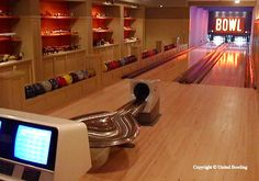 bowling alley in my basement, yes please!