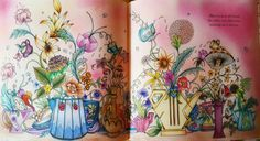 The teatable from Escape to Wonderland coloring book. Coloured by #zsuzsicolouring