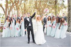 JPhotographybyJessiCaparella // Donna Morgan Beach Glass wedding // Pastel wedding // Bridesmaid dresses