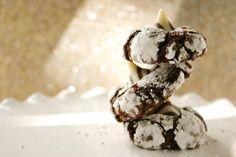 Chocolate Crinkle Kiss Cookies.