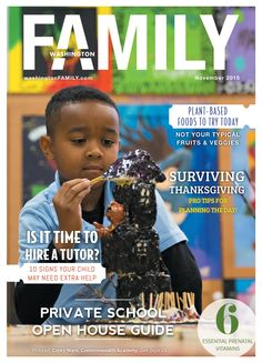 Our November cover was taken at the wonderful Commonwealth Academy! Check out this issue for tutoring information, pregnancy nutrition, Thanksgiving facts and more!