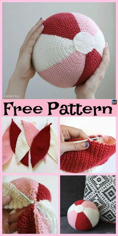 10 Cute Crochet Balls – Free Patterns These crochet balls come in all sorts of shapes, and sizes, and some of them are very easy, but some are hard. Beau Crochet, Crochet Mignon, Crochet Ball, Crochet Cross, Crochet Pillow, Crochet Home, Cute Crochet, Beautiful Crochet, Crochet Baby Booties