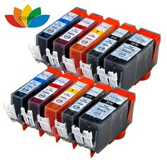 10 X Compatible canon 550 551 Ink Cartridge for Pixma MG6350 MG-6350 MG 6350 Printer
