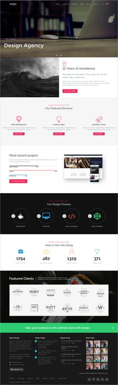 Tempo is an modern and unique premium #WordPress #template for multipurpose…