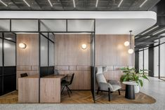 RUST Architects has realized the office design for the B. Group, an engineering firm located in Tel Aviv, Israel. Corporate Office Decor, Corporate Interiors, Corporate Design, Office Interiors, Corporate Offices, Open Office Design, Office Interior Design, Office Open Plan, Open Concept Office