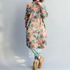 Romance long dress shirt/ Beige/ light blue/ dark blue by MaLieb on Etsy https://www.etsy.com/listing/75734625/romance-long-dress-shirt-beige-light