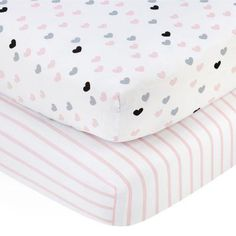 Little Love by Nojo Hugs and Kisses Fitted Crib Sheet - Set of 2 - 3585038