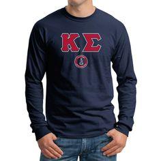 Campus Classics - Kappa Sig Navy Vintage Long Sleeve Tee: $23.95