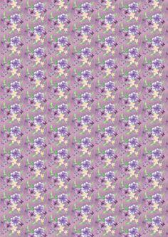 Floral Multi on Dark Lavender Summer Breeze, Freedom, Lavender, Dark, Floral, Fabric, Liberty, Tejido, Political Freedom