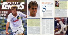 """In the issue of August 1987 of World Tennis an interview with Stefan Edberg by Kim Cunningham and a portrait of the Swede, described as one of the major contenders for the world n.1. The """"Scouting report"""" by Paul Cohen provides a deep analysis of Stefan's game."""