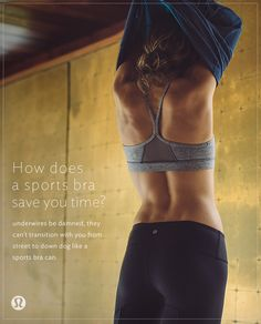 How does a sports bra save you time?