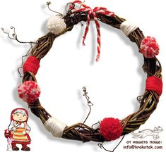 children activities, more than 2000 coloring pages Kids Crafts, Craft Activities For Kids, Wood Crafts, Arts And Crafts, Xmas Wreaths, Grapevine Wreath, Craft Wood Pieces, Baba Marta, Heart Wreath