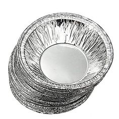 Perfect shopping 50 Pcs Kitchen Disposable Baking Circular Egg Tart Tins Cake Cups Foil Tart Pie Pans with Stylus  Silver Tone >>> Want to know more, click on the image.