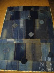 Little Birdie Secrets: denim picnic blanket quilt-along - part 2