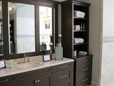 Master Bath #cabinets #vanity #mirror #storage