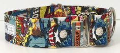 Comic Superhero Adjustable Martingale Dog Collar - Made to Order - by JinsK9Kreations on Etsy
