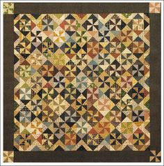 """Red Crinoline Quilt Approx. 56"""" x 56"""". Oh so scrappy antique looking wall or table quilt. This is a scrap buster quilt that is fast and easy to make."""