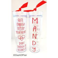 New to DashofFlair on Etsy: Cute Enough To Stop Your Heart Smart Enough To Restart It Nurse Tumbler Personalized Nurse Water Bottle Gift for Nurses USD) Army Gifts, Military Gifts, Funny Nurse Quotes, Nurse Humor, Nurse Mugs, Nurse Gifts, Water Bottle Gift, Water Bottles, Work Gifts