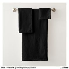 tex family Sea Seahorse Towel Set Grey