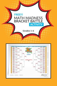 With the Math Madness Bracket Battle game students will use knowledge of place value to compare numbers, and with a bit of luck hopefully advance to the final round of the tournament. Fun Math, Math Games, Math Activities, Maths, Math Coach, 7th Grade Math, Third Grade, Math Courses, Math Concepts