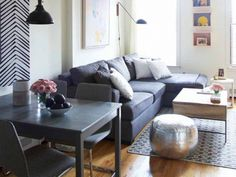 This Home's Budget-Friendly Nate Berkus Design Is So Stylish: The celebrity designer helps his assistant create a cozy, personal vibe in her Brooklyn home. via @mydomaine