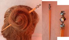 Flower Beaded Hair Stick, Barrette, Hair Pin, Hair Jewelry, Flower Jewelry, Bun Stick, Handmade Wooden Hair Stick, Blue Flower Hair Stick Celtic Knot Jewelry, Celtic Necklace, Jewelry Knots, Chakra Necklace, Cross Jewelry, Hair Jewelry, Flower Jewelry, Whimsical Hair, Celtic Hair