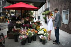 flower carts downtown