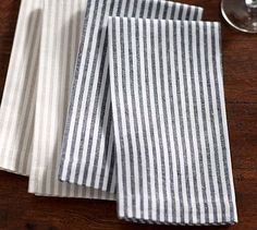 Wheaton Stripe Napkin, Set of 4 #potterybarn