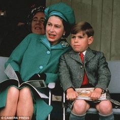 Queen Elizabeth II with son Prince Andrew when he was Wow you can see the resemblance between him and Eugenie here!